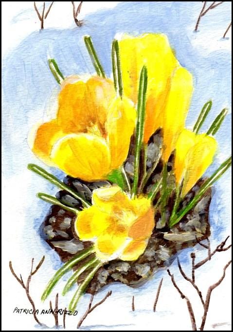 """Crocus - Harbingers of Spring 2"" original fine art by Patricia Ann Rizzo"