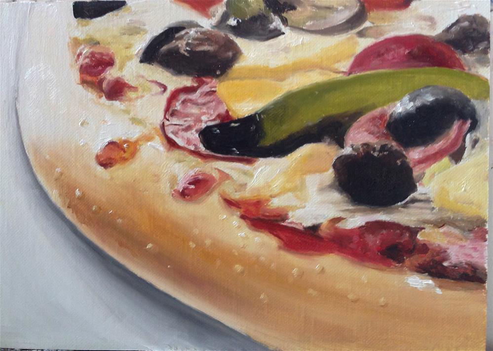 """Pizza Anyone?"" original fine art by James Coates"