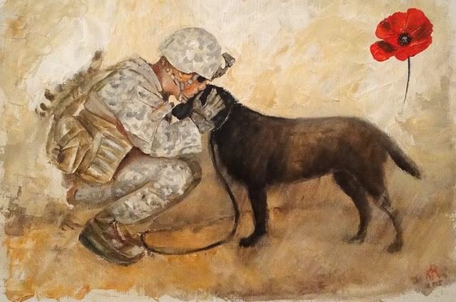 """Remembrance Day (Veteran's Day)"" original fine art by Karen Robinson"