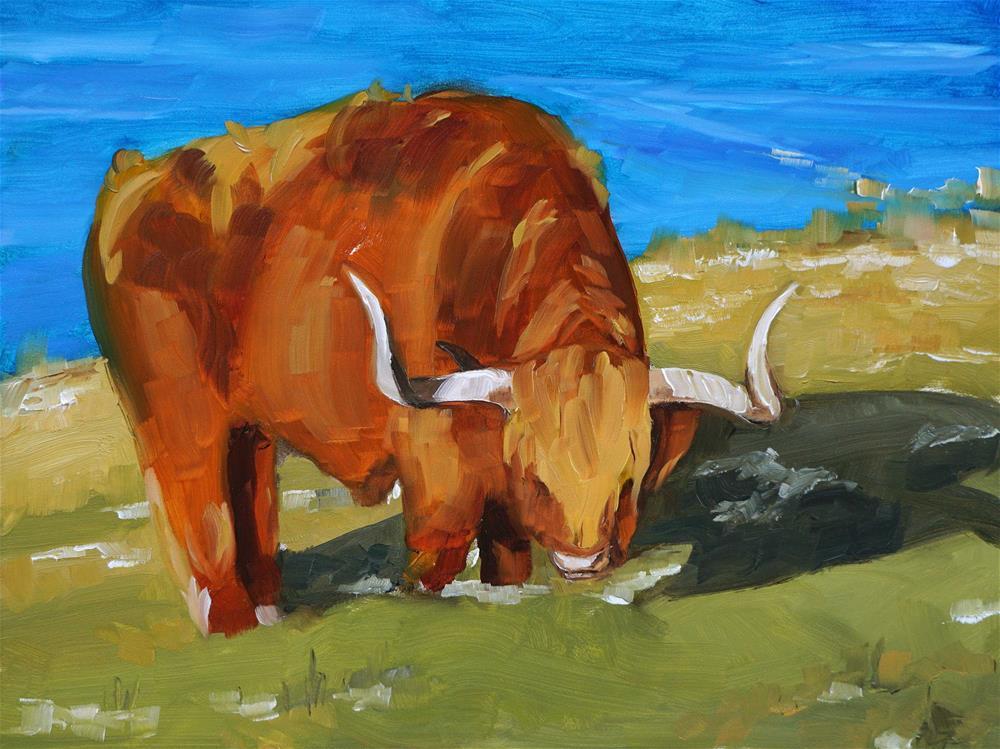 """""""Wee Tim'rous Beastie"""" original fine art by Catherine Van Berg"""