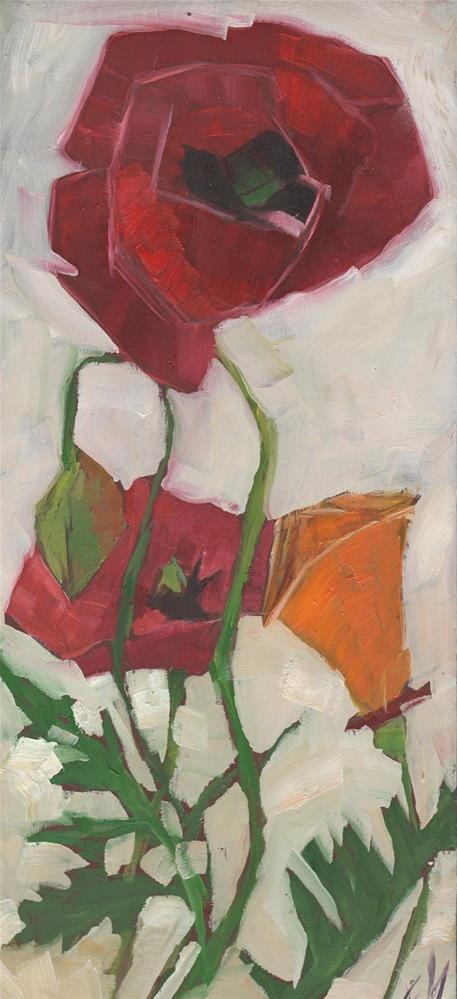 """Poppies"" original fine art by Elizabeth See"