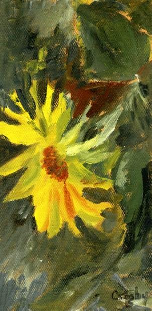 """""""Garden Glow"""" original fine art by Donna Crosby"""