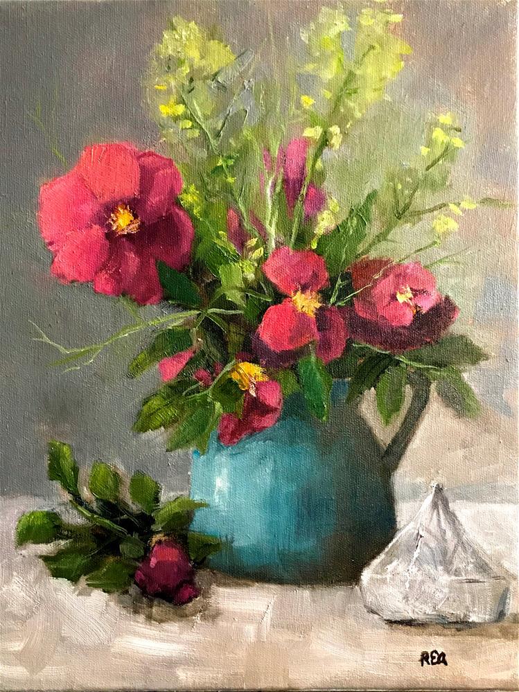 """wild roses"" original fine art by Betty Argiros"