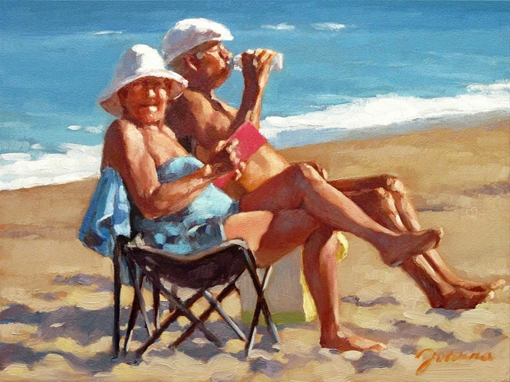 """Somewhere On The Beach"" original fine art by Joanna Bingham"