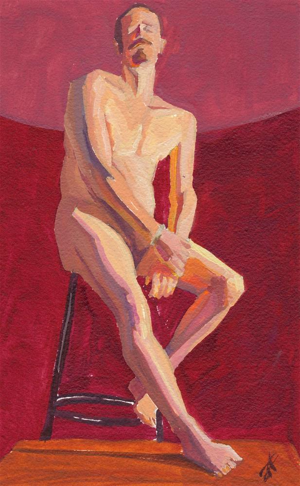 """""""Tim"""" original fine art by Mark Allison"""