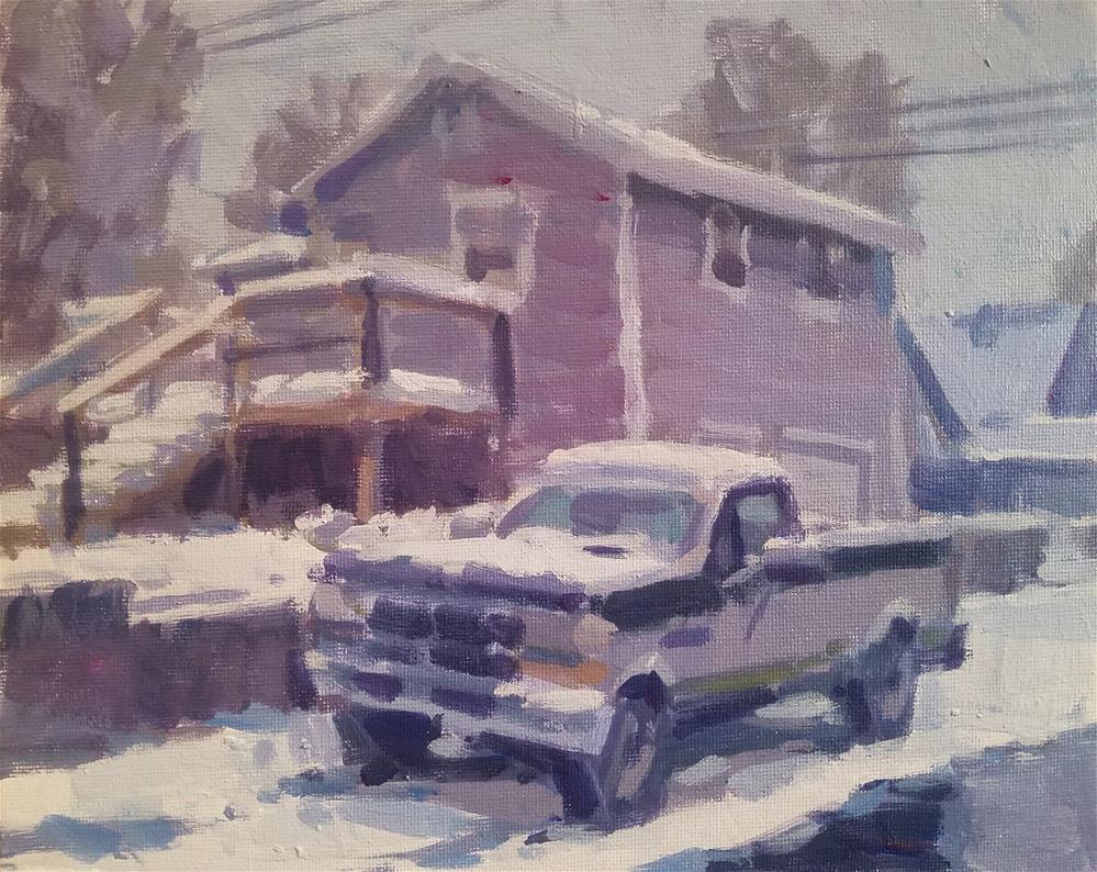 """""""Grey Street Winter"""" original fine art by Roy Boswell"""