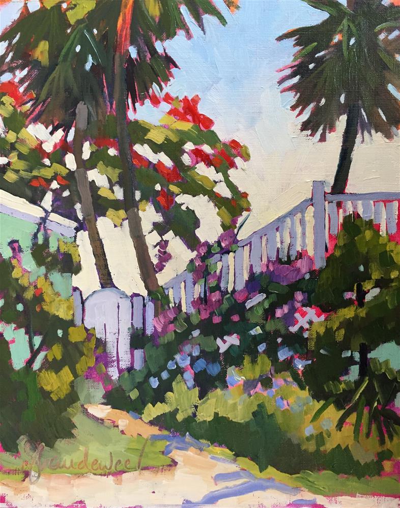 """Royal Poinciana on Seminole Street"" original fine art by Carol Baehren Landeweer"