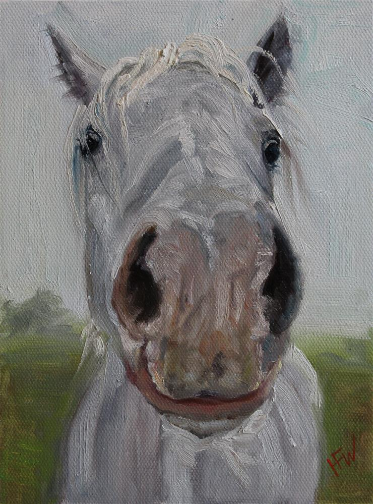 """Big Pink Nose"" original fine art by H.F. Wallen"