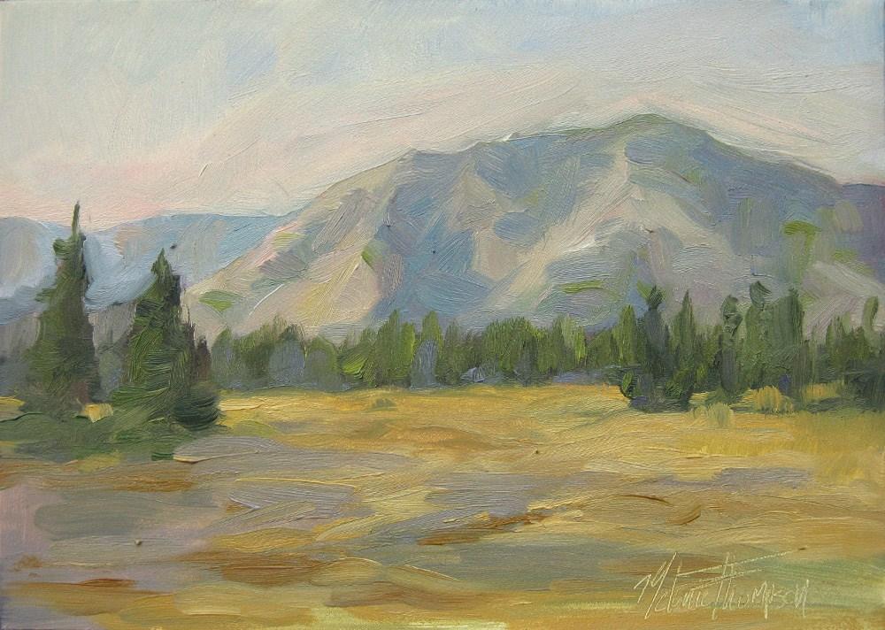 """""""Last Light on Teanaway Ridge"""" original fine art by Melanie Thompson"""