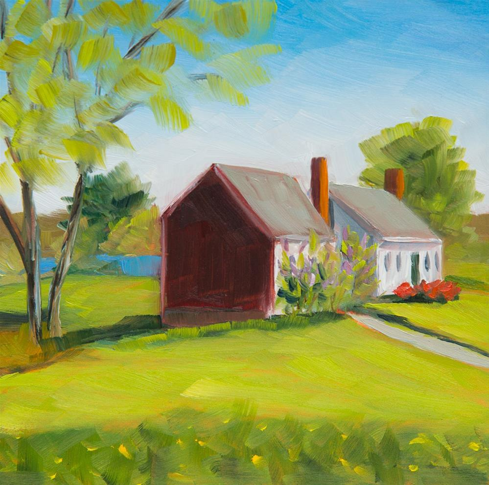 """#20 - Farmhouse - Sheepscot, ME"" original fine art by Sara Gray"