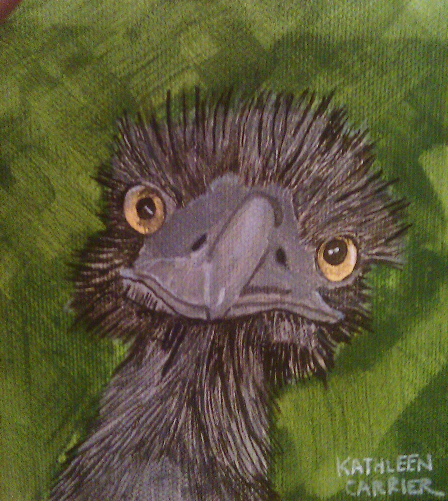 """here's looking at you"" original fine art by Kathleen Carrier"