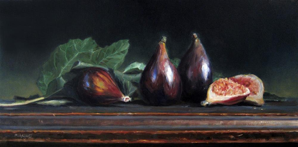 """""""Fig Spotlight"""" original fine art by Marilyn M King"""