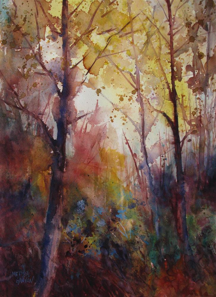"""Wintry Woods"" original fine art by Melissa Gannon"