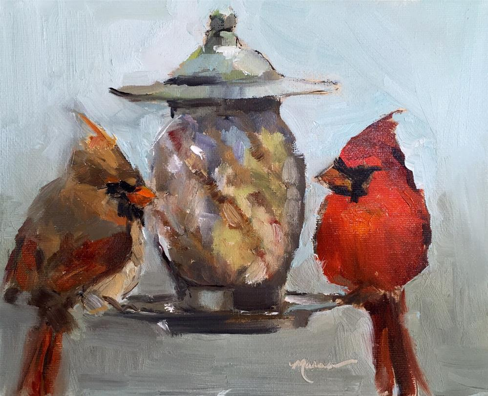 """Dinner Date"" original fine art by Marcia Hodges"