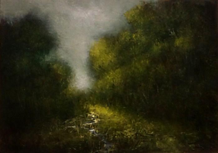 """""""The Tiny Stream"""" original fine art by Bob Kimball"""