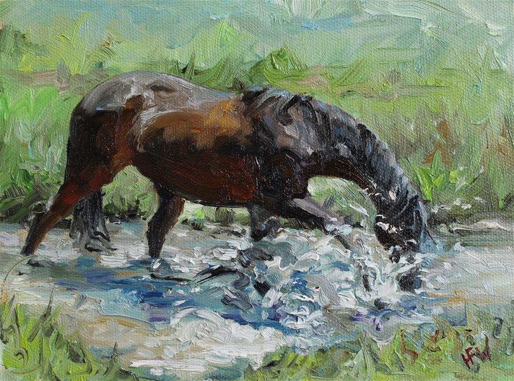 """Making a Splash!"" original fine art by H.F. Wallen"
