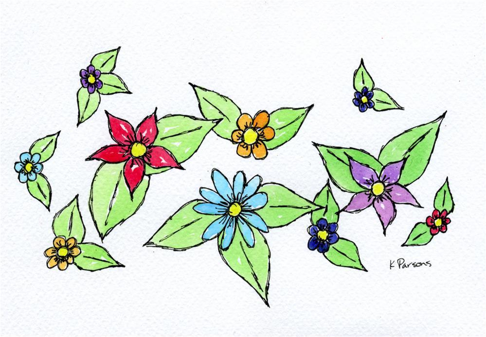 """So Many Flowers"" original fine art by Kali Parsons"