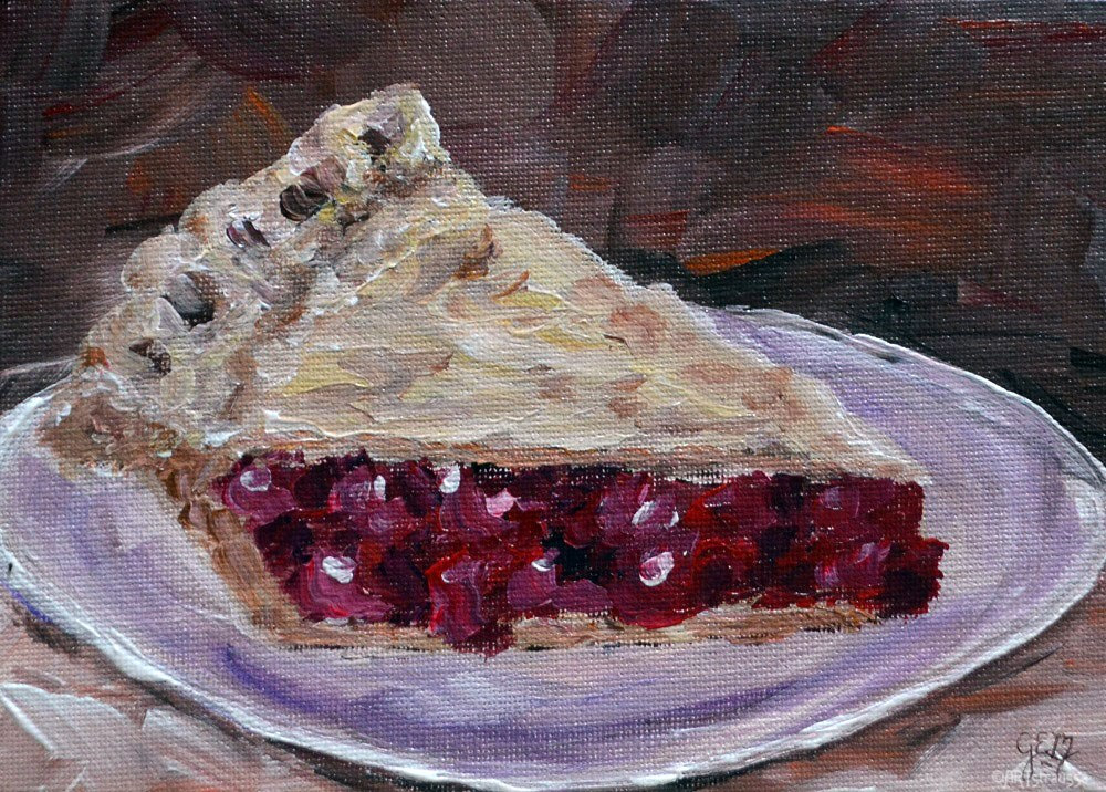 """Cherry Pie Awaits"" original fine art by Gloria Ester"