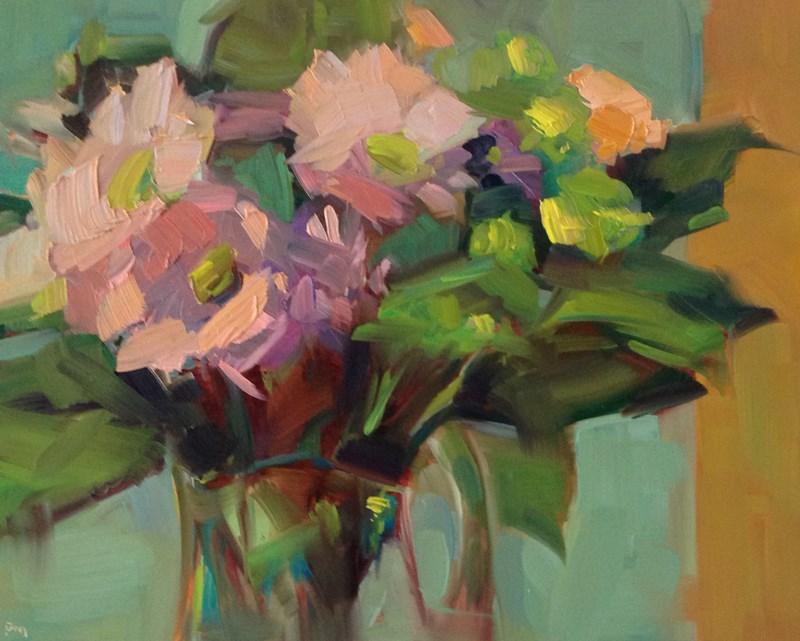 """Flower Hovercraft"" original fine art by Patti McNutt"