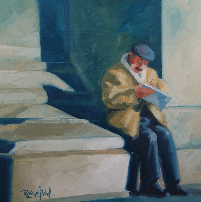 """No. 460 Moring Crossword"" original fine art by Robin J Mitchell"