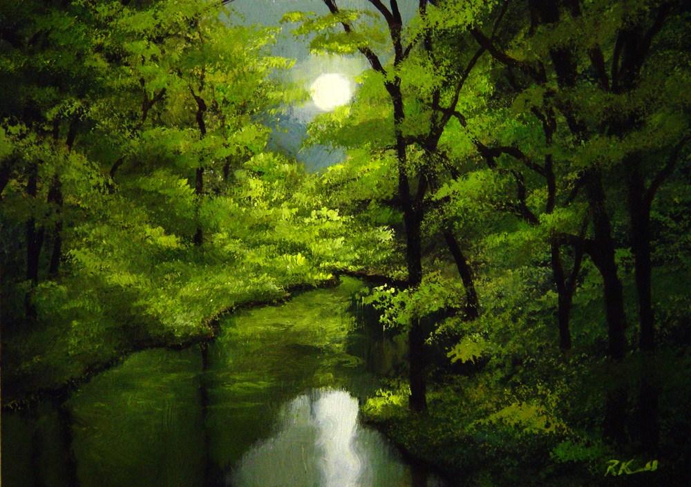 """Shinning Through"" original fine art by Bob Kimball"