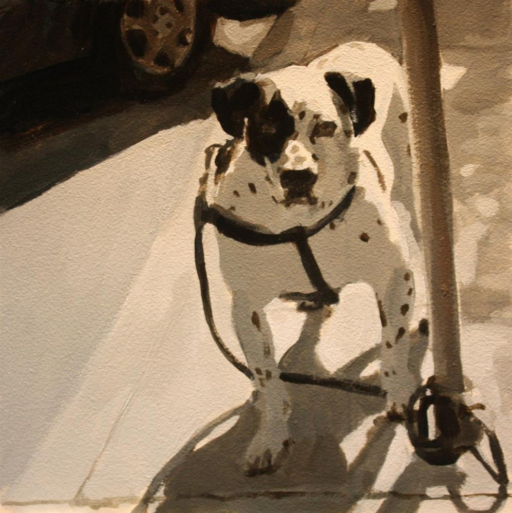 """Doggie Boy"" original fine art by Kaethe Bealer"