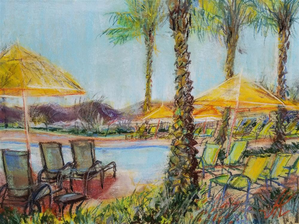 """Community Pool"" original fine art by Jean Krueger"