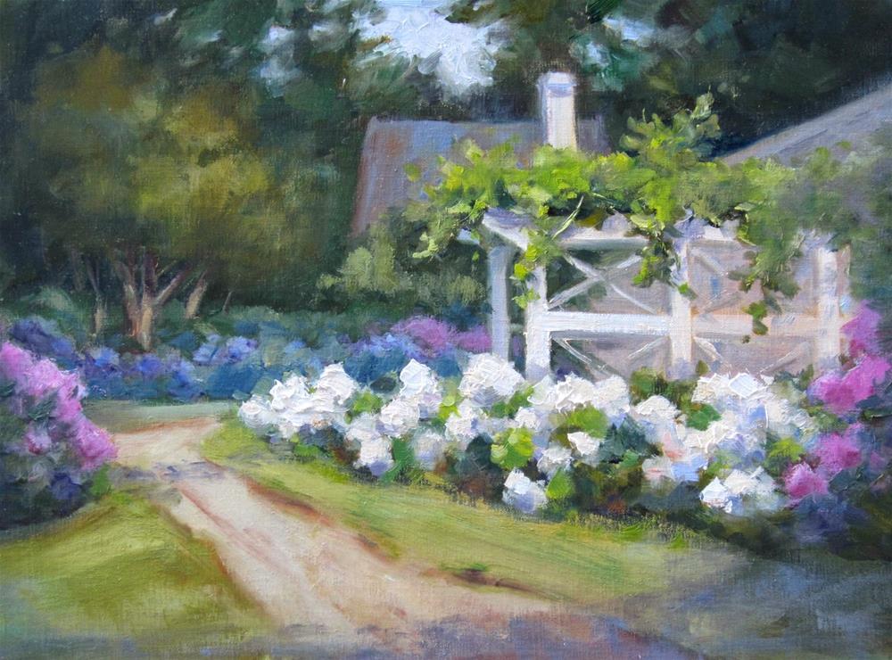 """Hydrangea Garden II"" original fine art by Pat Fiorello"