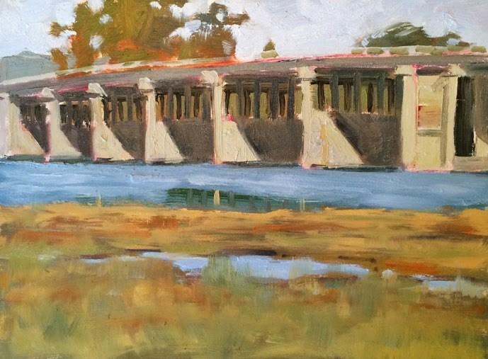 """Richardson Bridge"" original fine art by Deborah Newman"