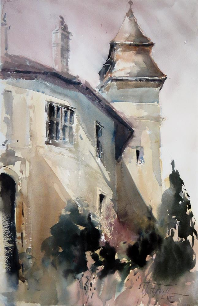 """Castle Bernstein II"" original fine art by Christa Friedl"