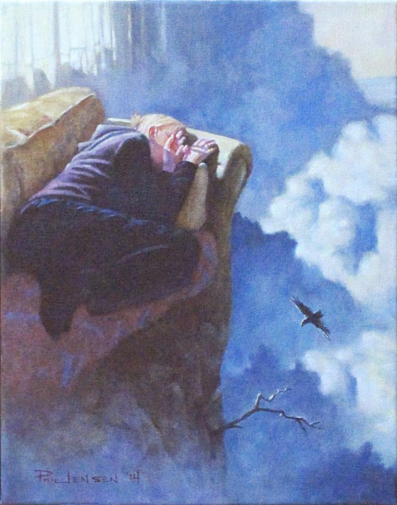 """""""Afternoon Flight"""" original fine art by P D Jensen"""