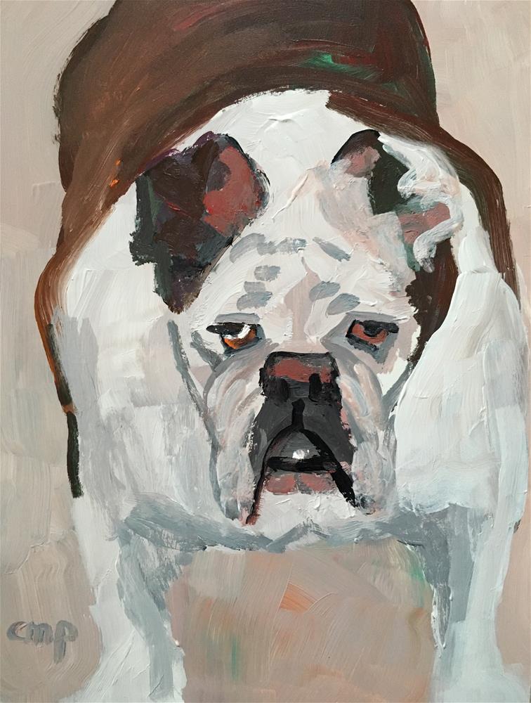 """bulldog"" original fine art by Christine Parker"