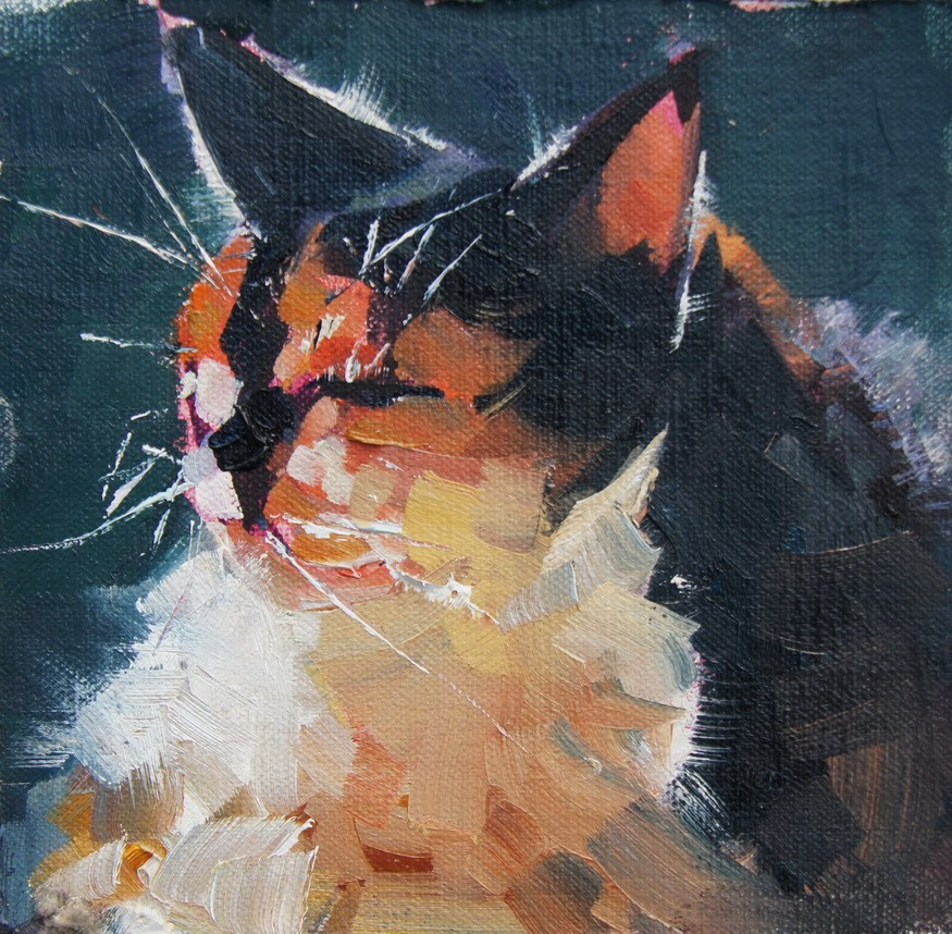 """Puddy Tat"" original fine art by Brian Buckrell"
