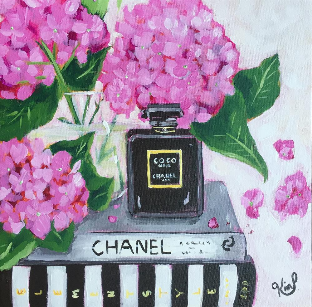 """Chanel and Flowers"" original fine art by Kim Peterson"