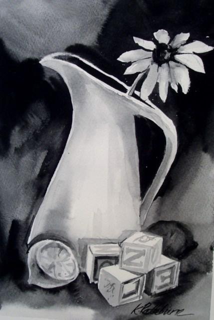 """Building Some Lemonade"" original fine art by Kathy Los-Rathburn"