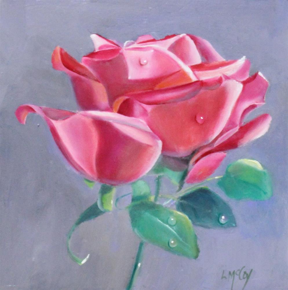 """The Rose"" original fine art by Linda McCoy"