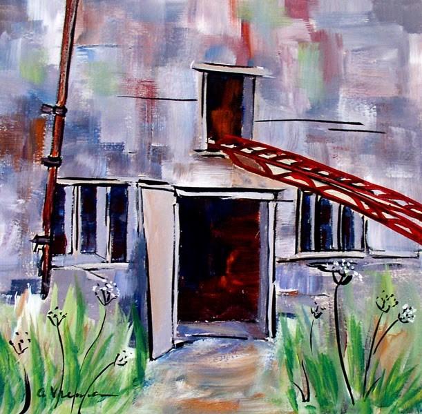 """""""Barn #6"""" original fine art by Anna Vreman"""