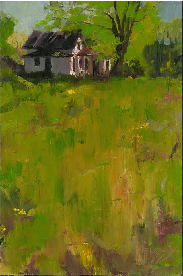"""""""Abandoned House plein air, oil landscape painting by Robin Weiss"""" original fine art by Robin Weiss"""