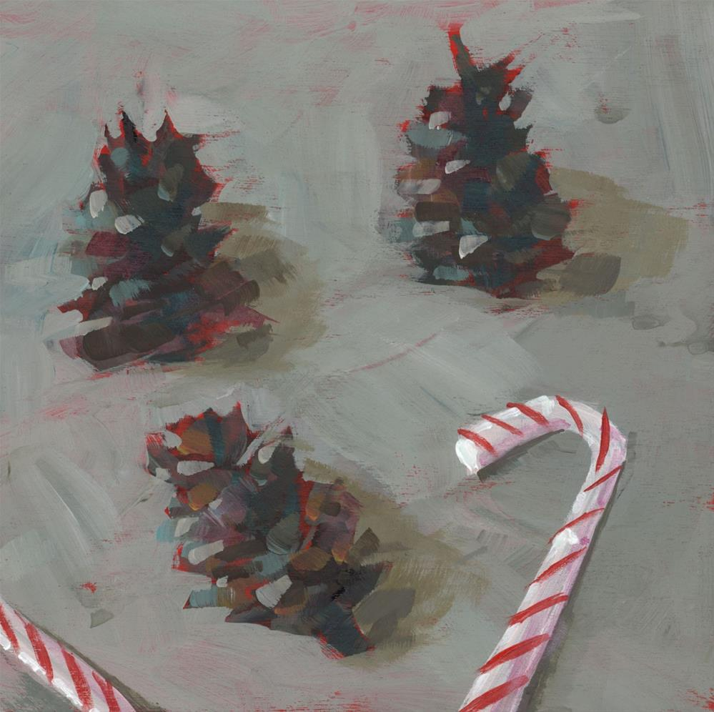 """0980: Pine Cones and Peppermints"" original fine art by Brian Miller"