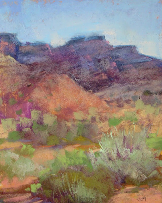 """Capturing the Colors of the Southwest ...Pastel Demo"" original fine art by Karen Margulis"
