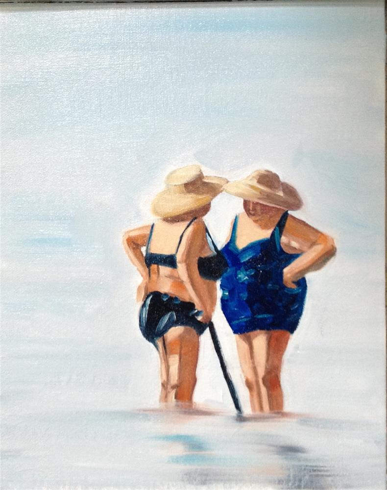 """Seaside Conference"" original fine art by Bev Thibault"