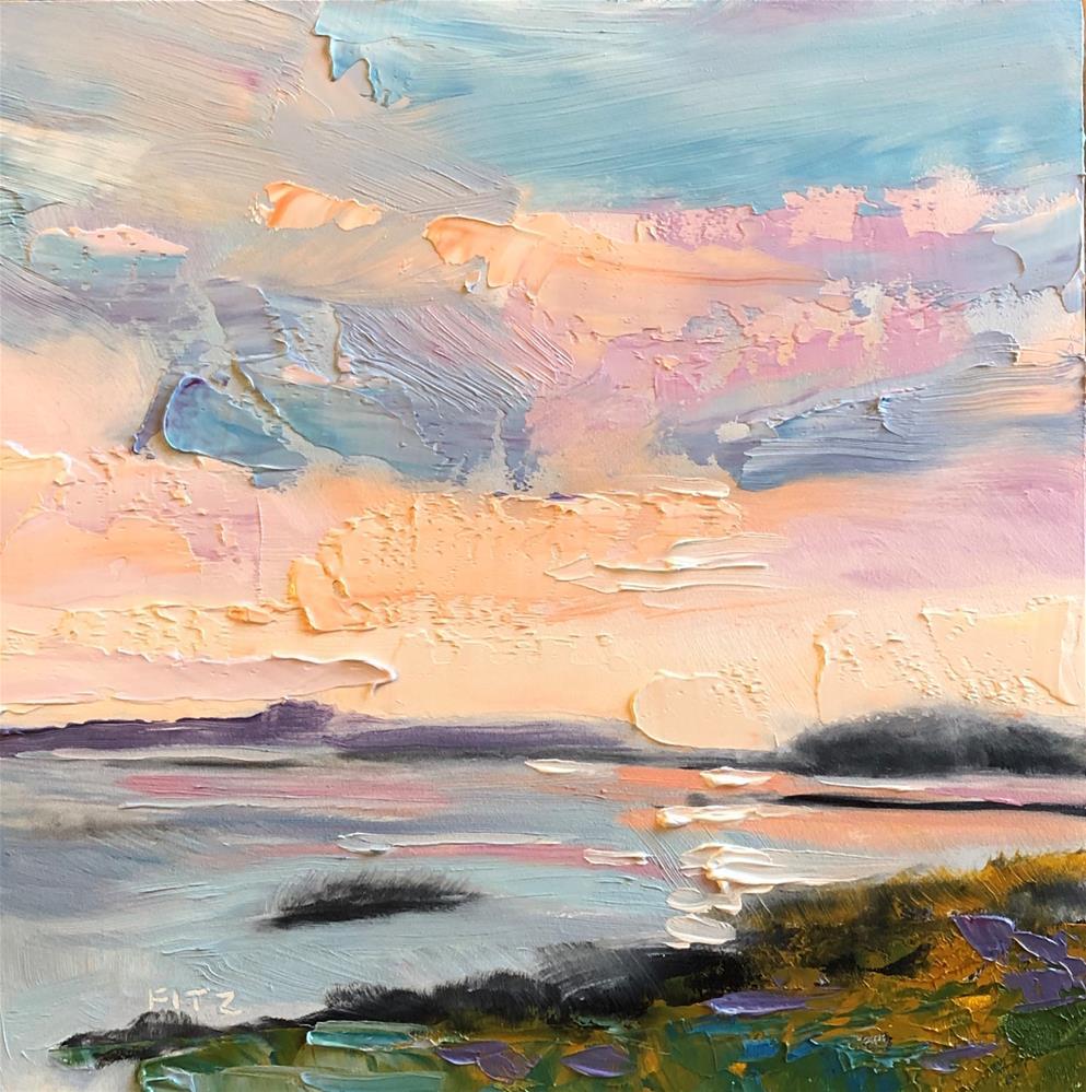 """""""Impasto Seascape Study 9"""" original fine art by Charlotte Fitzgerald"""