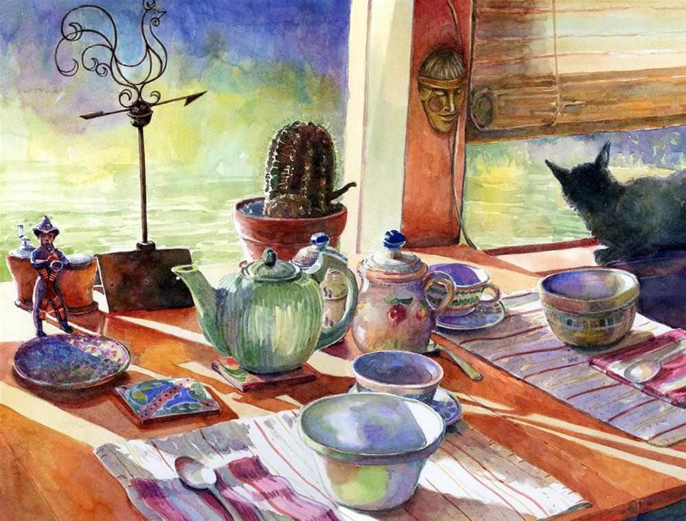 """Watercolor: Mexican Breakfast"" original fine art by Belinda Del Pesco"