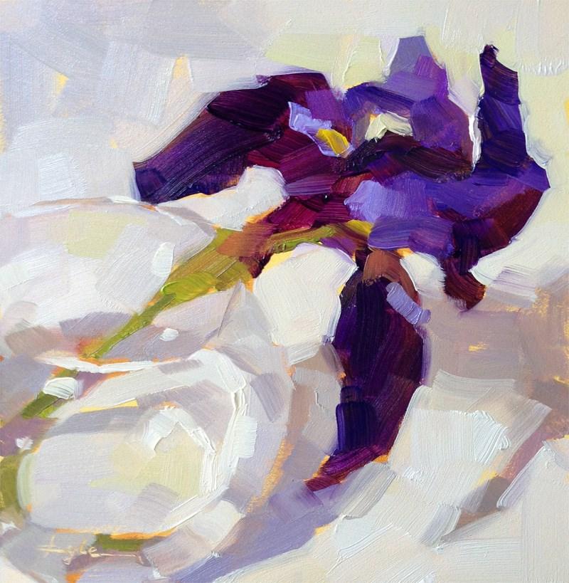 """""""Purple Iris"""" original fine art by Katia Kyte"""