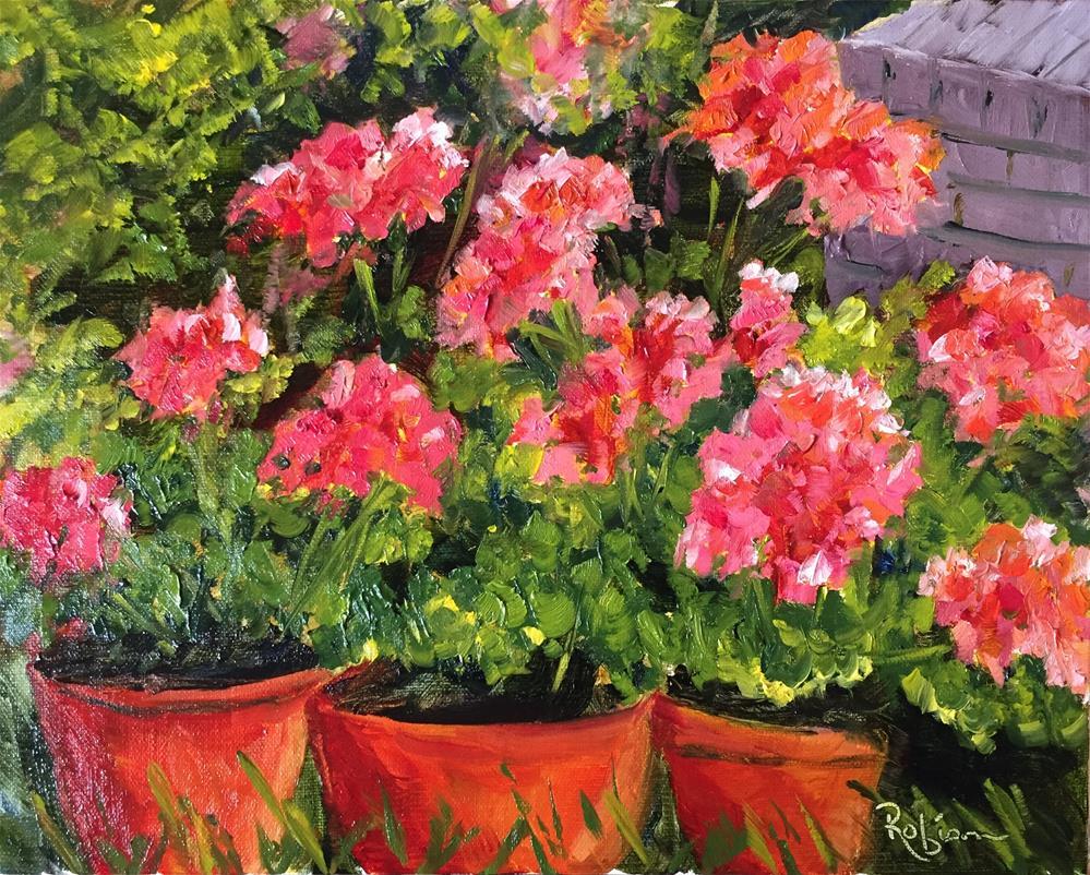 """Neighborhood Blossoms"" original fine art by Renee Robison"