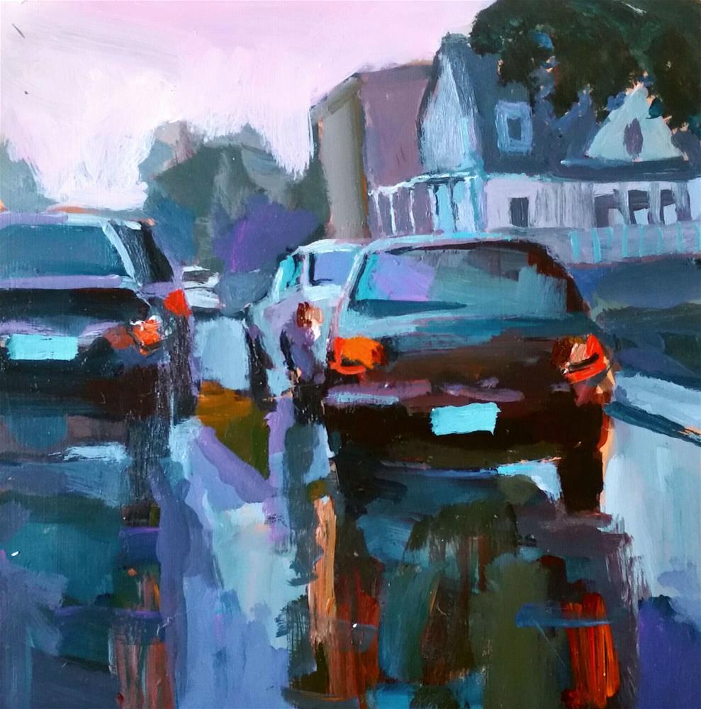 """Rainy Day Reflection "" original fine art by Liz Maynes"