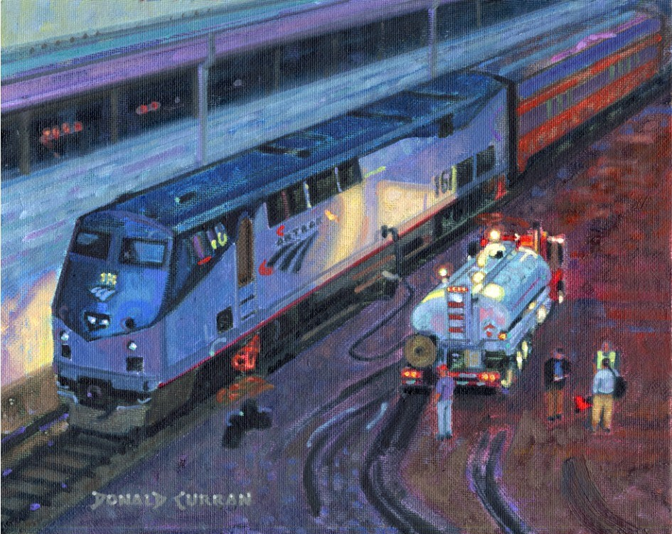"""Pit Stop"" original fine art by Donald Curran"