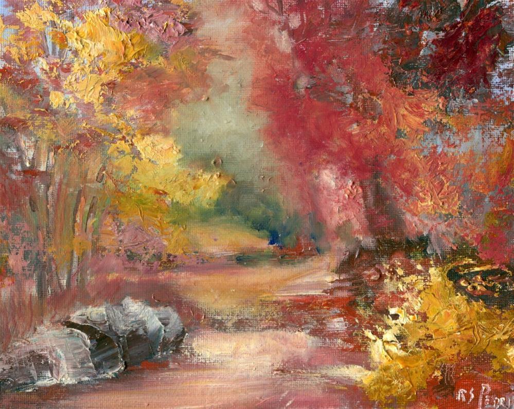 """""""Fall Splendor """" original fine art by R. S. Perry"""