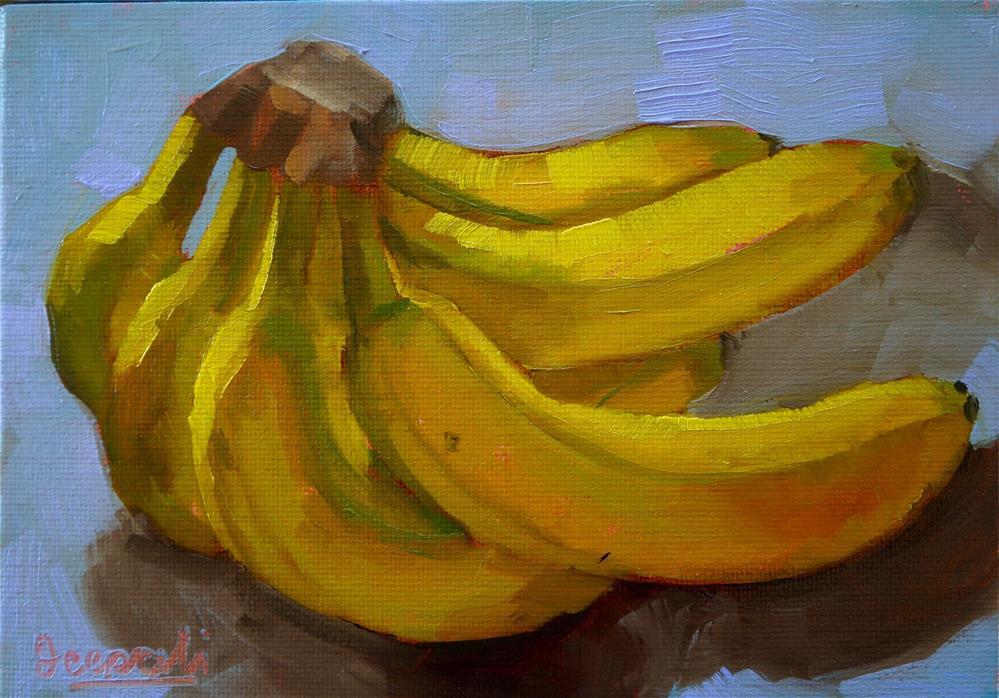 """Bunch of bananas"" original fine art by Dipali Rabadiya"