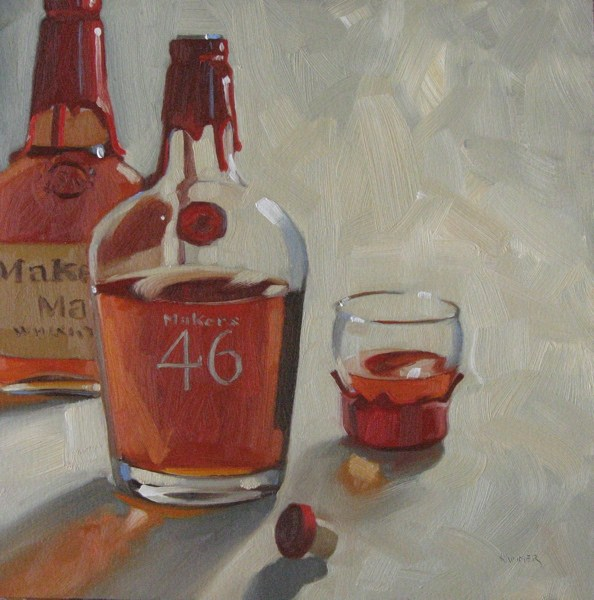"""Maker's and 46 12x12 oil"" original fine art by Claudia Hammer"